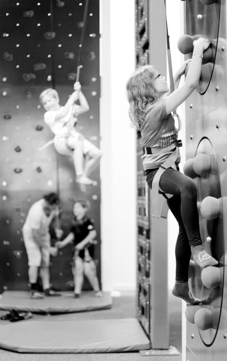 klättrar på väggarna
